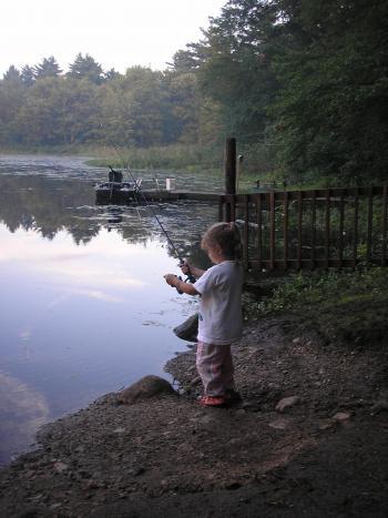 Little fisher girl
