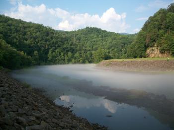 Little Tennessee River at Fontana Dam, North Carolina