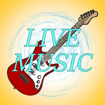 Live Music Represents Sound Track And Audio