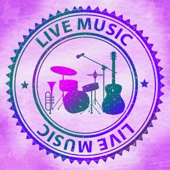 Live Music Shows Track Performer And Playing