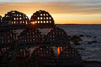 Sunset Fishing Pots