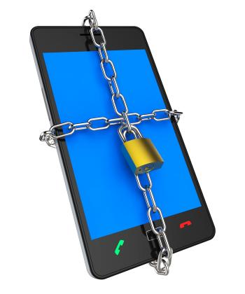 Locked Phone Indicates Protect Password And Login