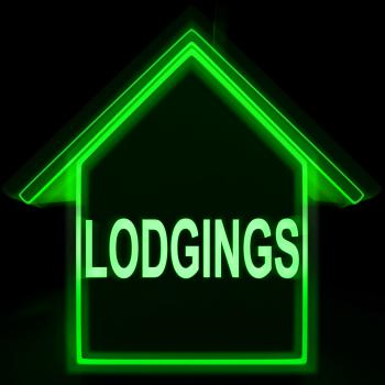 Lodgings Home Means Rooms Accommodation Or Vacancies
