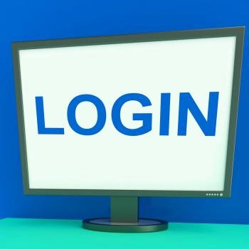 Log In Screen Shows Website Internet Login Security