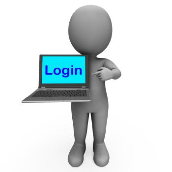 Login Character Computer Shows Website Sign In Security