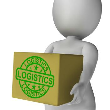 Logistics Box Means Packing And Delivering Products