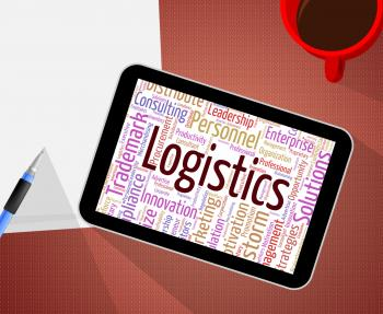 Logistics Word Shows Systemization Plans And Wordcloud
