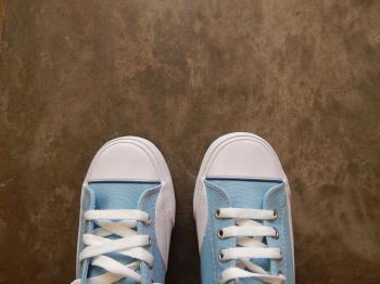 Looking at my feet
