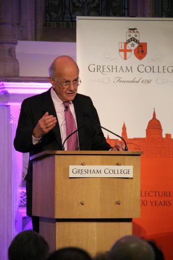 Lord Igor Judge delivering a Gresham College lecture