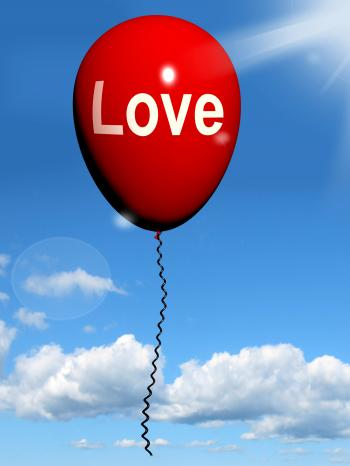 Love Balloon Shows Fondness and Affectionate Feelings
