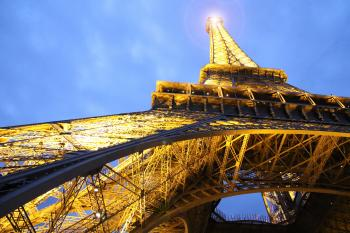 Low Angle of Eiffel Tower Paris