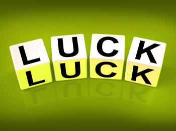 Luck Blocks Refer to Fortune Destiny or Luckiness