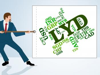 Lyd Currency Indicates Foreign Exchange And Coin