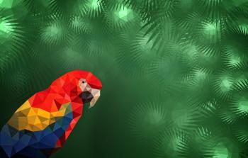 Macaw in the Jungle with Copyspace