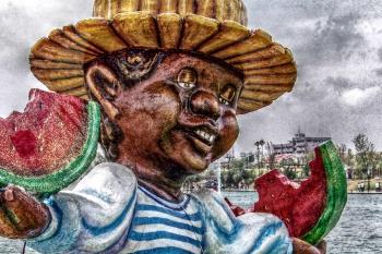 Mache carnival figure