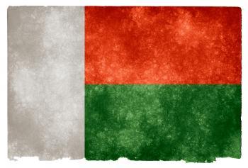 Madagascar Grunge Flag
