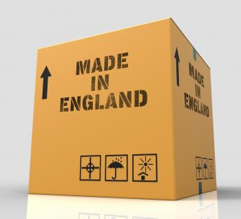 Made In England Means British Product 3d Rendering