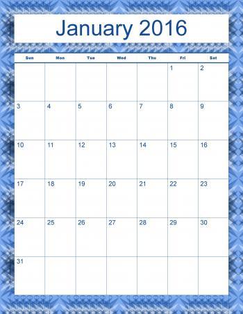 Madison's Peak January 2016 Calendar