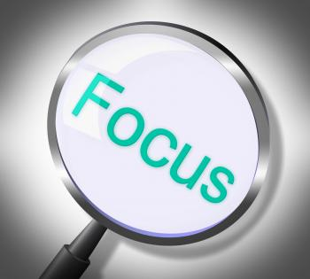Magnifier Focus Means Search Attention And Magnification