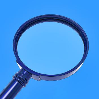 Magnifying Glass Shows Zoom Or Searching