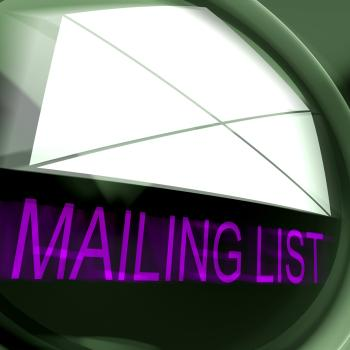 Mailing List Postage Means Contacts Or Email Database