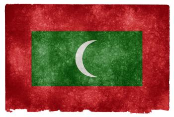 Maldives Grunge Flag