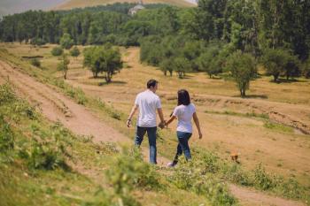 Man and Woman Walking