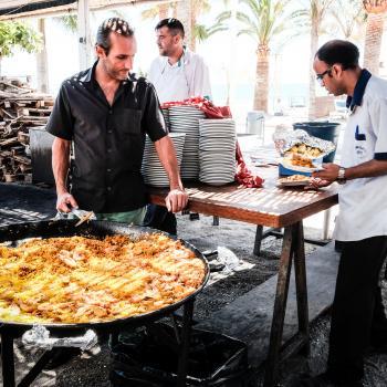 Man Cooking Biryani