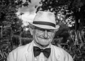 Man in Fedora Hat