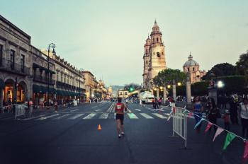 Man Running in Marathon
