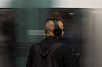 Man Wearing Black Headphones