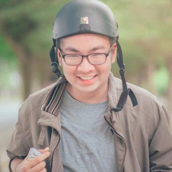 Man Wearing Black Helmet