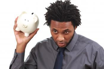 Man with a piggy bank