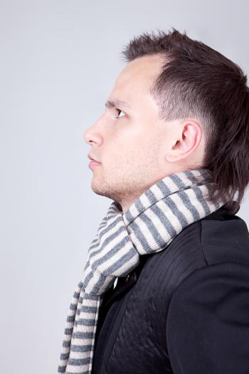 man with scarf
