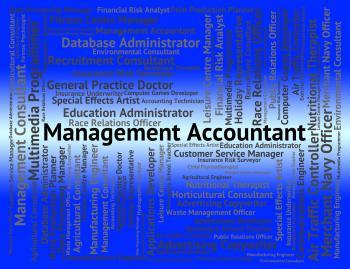 Management Accountant Indicates Balancing The Books And Accounta