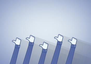 Many thumbs up icon - Liking on the social media networks
