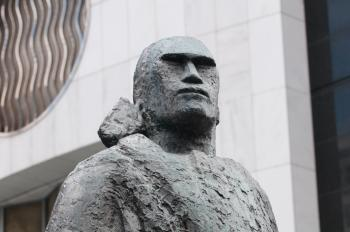 Maori Warrior sculpture in Auckland (bust)