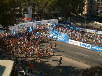 Marathon in Santiago, Chile.