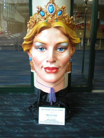 Mardi Gras Queen Head