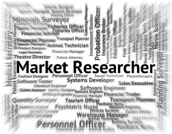 Market Researcher Shows Gathering Data And Examination
