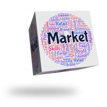 Market Word Indicates Wordcloud Advertising And Fair