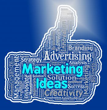 Marketing Ideas Thumb Means Promotion Plans And Ecommerce