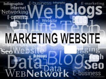Marketing Website Indicates Media E-Marketing And Online