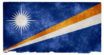 Marshall Islands Grunge Flag