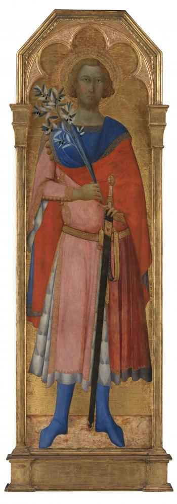 Master of the Palazzo Venezia Madonna (active c. 1340-60), St. Vittorio of Siena, c. 1350, 1350-51, KMS3625