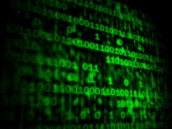 Matrix Code Copyspace Shows Digital Numbers Programming Background