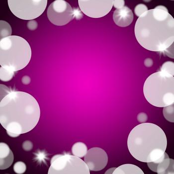 Mauve Bokeh Background With Blank Copy Space And Full Border