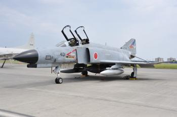McDonnell F-4EJ kai (401) of 302 Sqn displayed at Yokota Air Base Friendship Festival 2009.