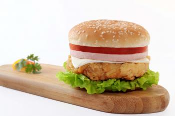 Meat Burger on Brown Oval Board