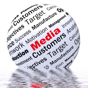 Media Sphere Definition Displays Diffusion Channels Or Online Media